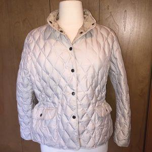 Sz XXL Eddie Bauer down puffer jacket in cream